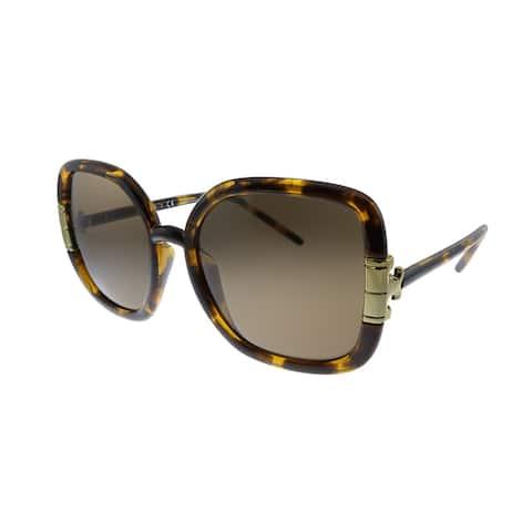 Tory Burch TY 9063U 151973 Mens Dark Tortoise Frame Brown Lens Sunglasses