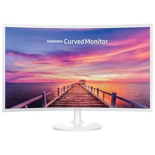 "Samsung CF391 32"" LED Curved Monitor 1920x1080 Ultra Slim - LC32F391FWNXZA (Refurbished) - White - 32"