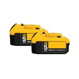 Replacement Battery For DeWalt DCS551B Power Tools - DCB205 (5000mAh, 20V, Lithium Ion) - 2 Pack