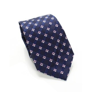 Susan G. Komen Blue Pink Men's One Size Geometric Print Neck Tie