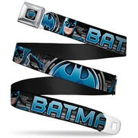 Bat Signal Full Color Black Gray Blues Batman Poses Bat Signal Close Up Seatbelt Belt