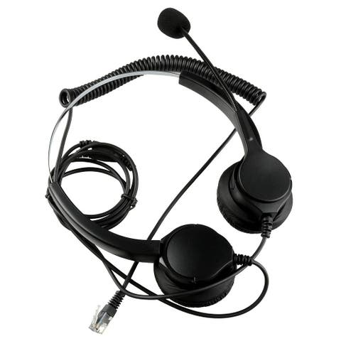4Pin RJ9 Crystal Headset h andsfree Call Center Noise Cancellation - Black