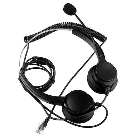 4Pin RJ9 Crystal Headset handsfree Call Center - Black