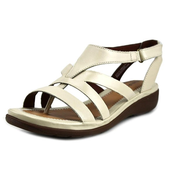 Hush Puppies Maben Keaton Women W Open Toe Synthetic White Gladiator Sandal