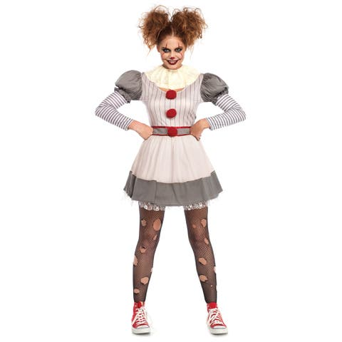 Womens Creepy Clown Pennywise It Costume