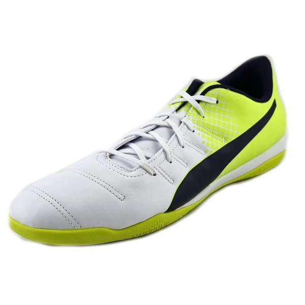 Puma EvoPower 4.3 IT Men Round Toe Leather White Sneakers