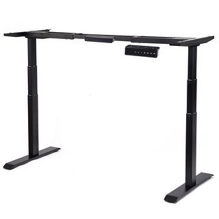 Gymax Electric Height Adjustable Standing Desk Frame Dual Motor & Memory Control Black