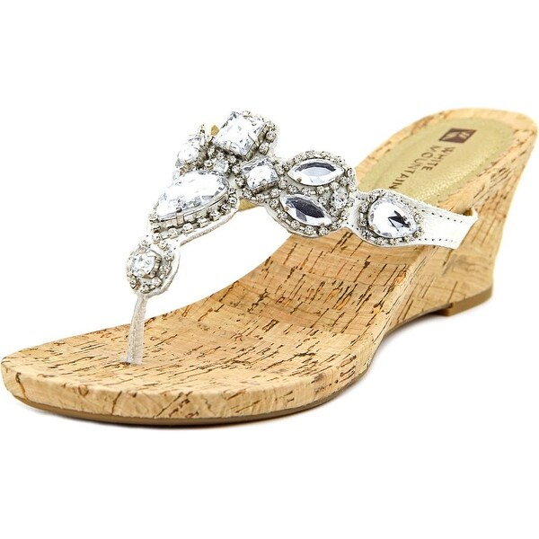 White Mountain Abra Women  Open Toe Leather  Wedge Sandal