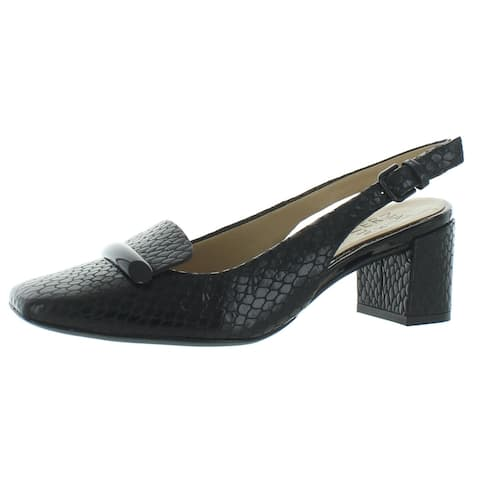 Naturalizer Womens Kendry Slingback Heels Leather Square Toe