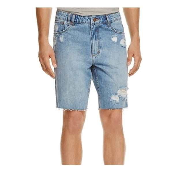 c0d40a8ac Shop INSIGHT DENIM Blue Mens 30 Slim Cut Off City Riot Denim Shorts - Free  Shipping On Orders Over $45 - Overstock - 21415225