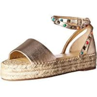 Marc Fisher Womens Vajen Leather Open Toe Casual Ankle Strap Sandals