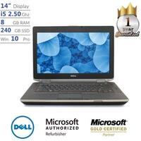 """Dell Latitude E6420, Core i5, 8GB, 240GB SSD, 14"""" Display, Win 10 Pro Laptop"""