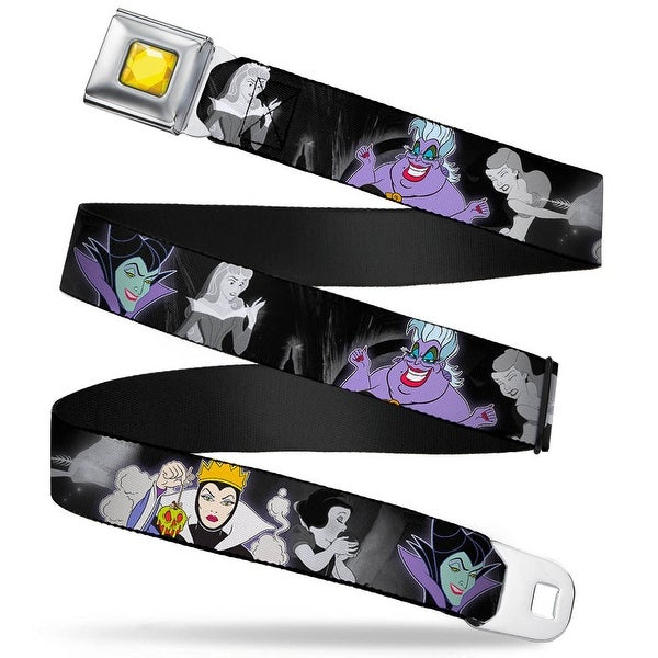 Princess Gem Close Up Full Color Yellow Villains Hexing Princesses Scenes Seatbelt Belt
