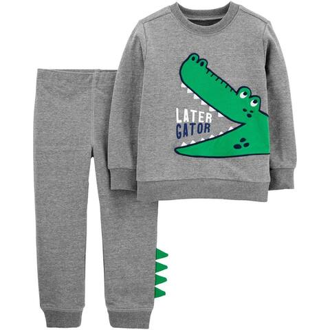 Carters Boys 2T-4T Gator Jogger Set - Grey