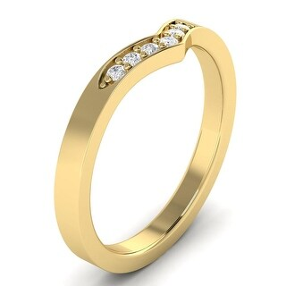 0.10 CTW Six-Stone Round Cut Curve Wedding Band In 14kt