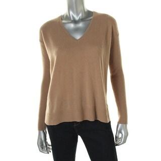 Lauren Ralph Lauren Womens Pullover Sweater Cashmere V-Neck - xs