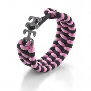 Crkt 9400PK Adjustable Paracord Bracelet - Pink & Black