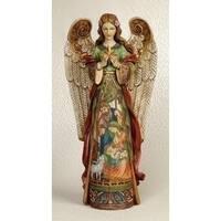 """Pack of 2 Joseph's Studio Holy Family Nativity Scene Christmas Angel Figures 16"""""""