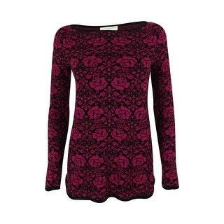 Charter Club Women's Floral Print Tunic Sweater