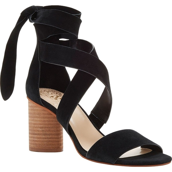 Vince Camuto Women's Jeneve Strappy Sandal, Black True Suede