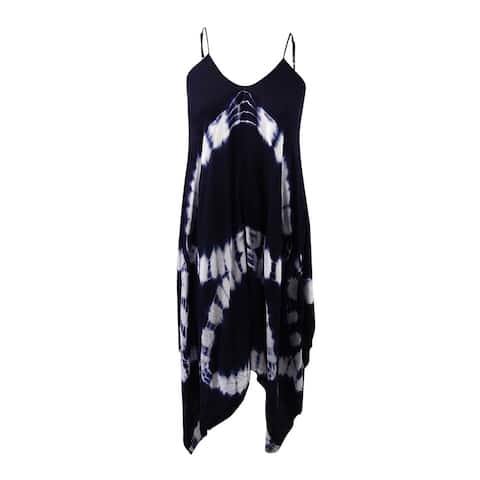Raviya Women's Tie-Dye Handkerchief Maxi Dress Cover-Up