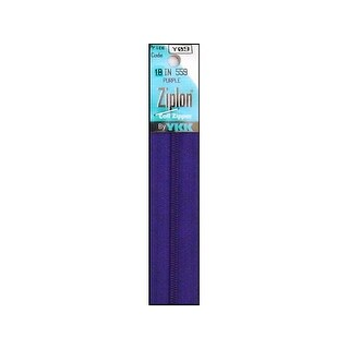 "YKK Ziplon Coil Zipper 18"" Purple"