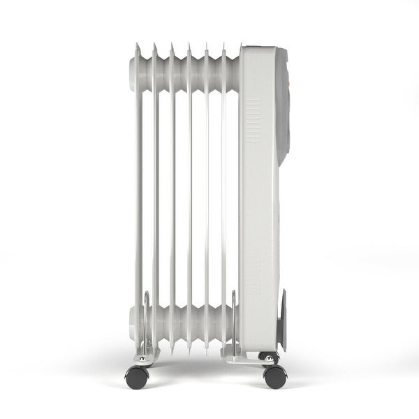1500W Portable Oil-Filled Radiator Heater w/Adjustable Thermostat. Opens flyout.