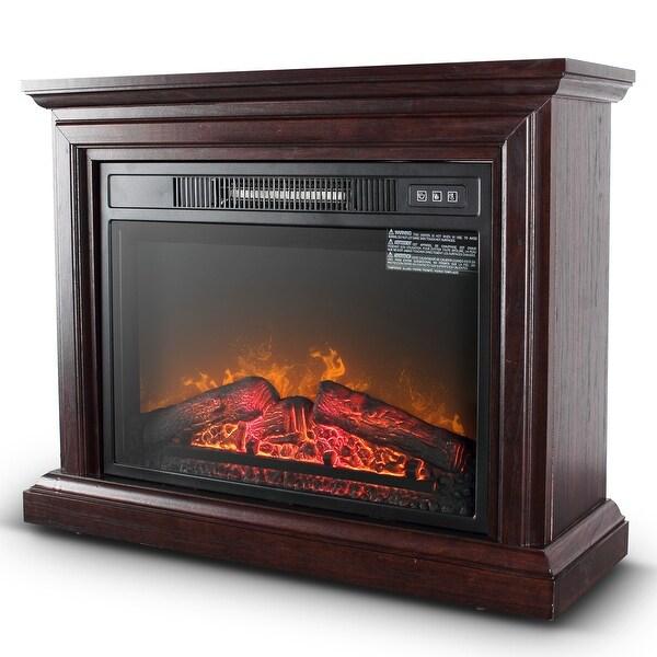 Shop Della 1400w Deluxe Infrared Quartz Fireplace Heater