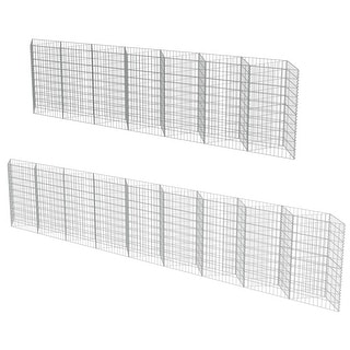 Link to vidaXL Gabion Wall Galvanized Steel Similar Items in Yard Care