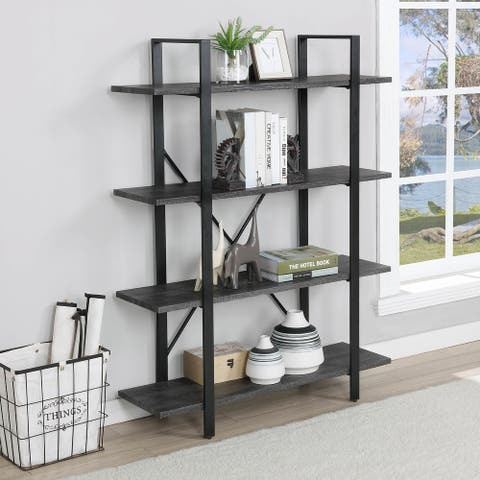FirsTime & Co.® Ryland Bookshelf, American Crafted, Gray, Wood, 41.5 x 12.5 x 55 in - 41.5 x 12.5 x 55 in