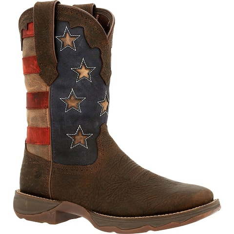 #DRD0409, Lady Rebel by Durango® Women's Vintage Flag Western Boot