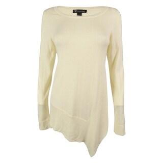 INC International Concepts Women's Asymmetrical Hem Sweater - m