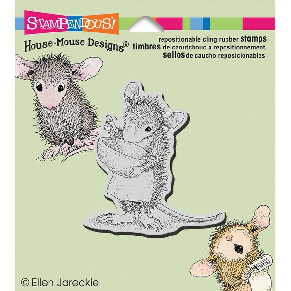"Stampendous House Mouse Cling Stamp 3.5""X4""-Mix It Up"