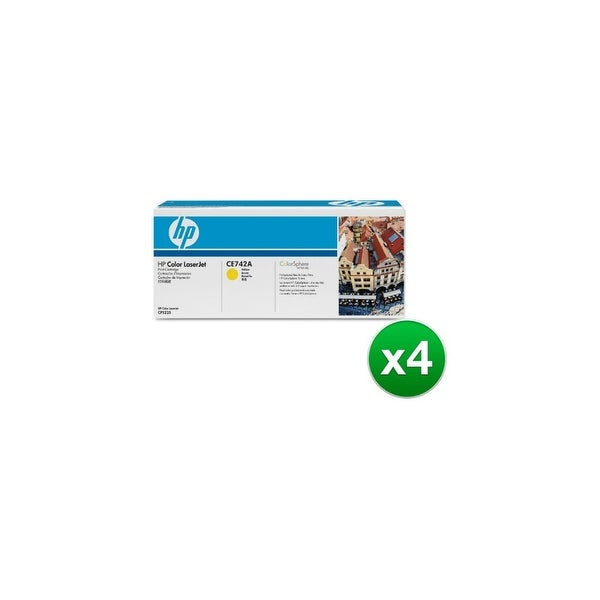 HP 307A Yellow Original Toner Cartridge (CE742A)(4-Pack)