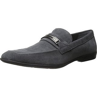 Calvin Klein Mens Vick Suede Slip On Loafers - 11 medium (d)