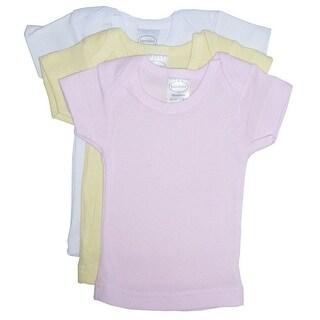 Bambini Baby Girls Pink Yellow White Short Sleeve Lap 3-Pack T-Shirts