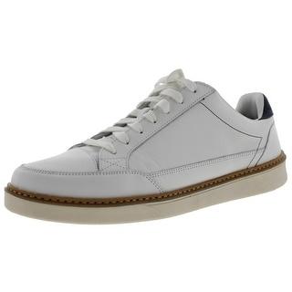 Dr. Scholl's Mens Trent Fashion Sneakers Leather Contrast Trim - 12 medium (b,m)