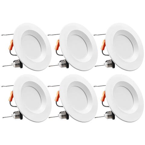 5/6 Inch Dimmable LED Retrofit Recessed Downlight, 15W 5000K, 6 Pack