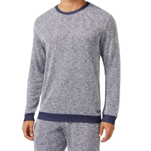 5e01a8ba4d Shop Kenneth Cole Reaction NEW Blue Mens Size Large L Marled Knit Nightshirt  - Free Shipping On Orders Over  45 - Overstock.com - 17989718