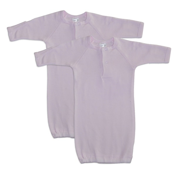 Bambini Preemie Solid Pink Gown - 2 Pack - Size - Preemie - Girl