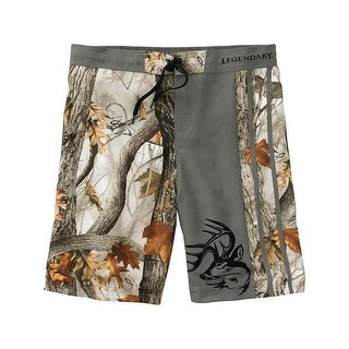 Legendary Whitetails Men's God's Country Camo Lakeside Swim Shorts - god's country camo