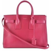 Yves Saint Laurent YSL Pink Leather Sac de Jour Small Handbag Purse W/Strap