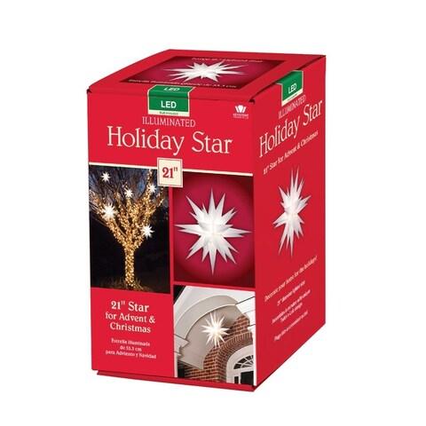 Keystone 50000LED Holiday Porch Star Christmas Decoration, Clear