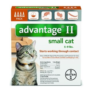 Advantage II for Cats 5 - 9lbs. 4 Pack