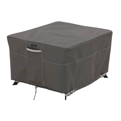 Classic Accessories Ravenna Water-Resistant 60 Inch Square Patio Table Cover