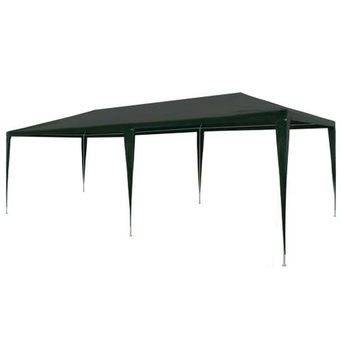 """vidaXL Party Tent PE Green 9'10""""x19'8"""""""