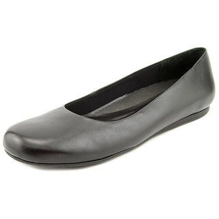 Walking Cradles Blue Women N/S Round Toe Leather Black Flats