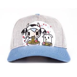 Tokidoki Women's Snapback Hat: Ramen Duo - grey