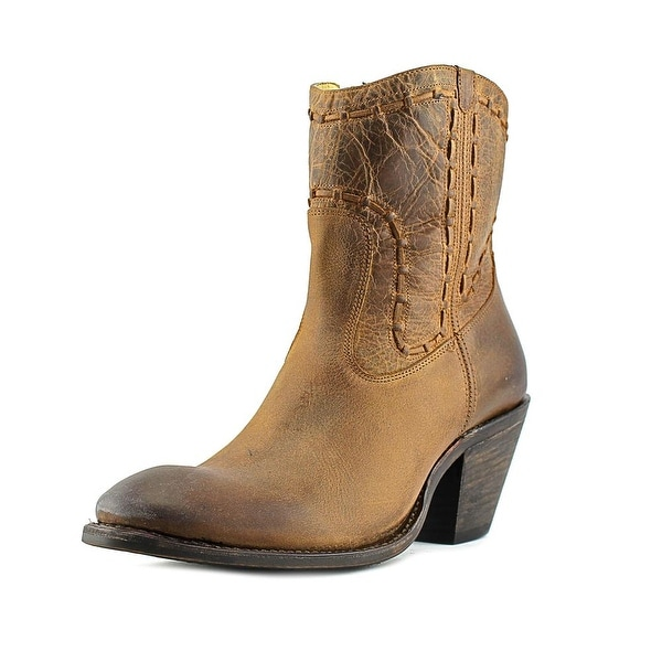 Justin Boots MSL140 Women Round Toe Leather Brown Western Boot