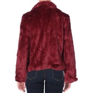 Bardot Womens Jacket Waterfall Faux Fur